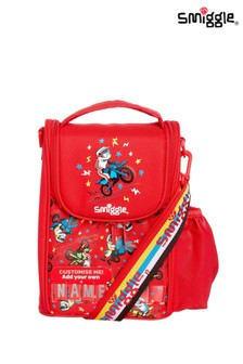 Smiggle Red Cheer Junior ID Lunchbox With Strap