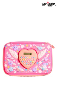 Smiggle Pink Calculator Hardtop Pencil Case