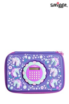 Smiggle Purple Calculator Hardtop Pencil Case