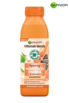 Garnier Ultimate Blends Repairing Hair Food Papaya Shampoo For Damaged Hair 350ml