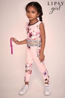 Lipsy Pink Mini Crop & Legging Set