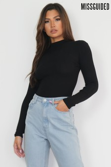 Missguided Knitted Rib High Neck Body