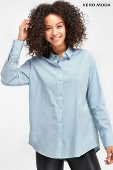 Vero Moda Blue Oversized Shirt
