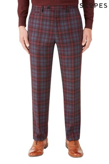 Skopes Red Checked Tailored Fit Trouser