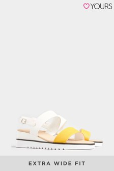 Yours Yellow Ocean Wedge Sporty Sandal