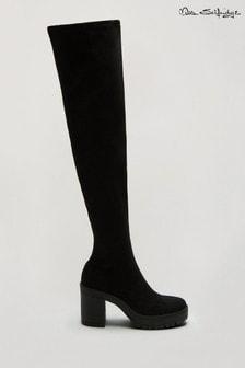 Miss Selfridge Black Ozzy Chunky Boot