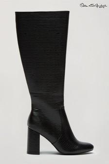 Miss Selfridge Black Orlando High Leg Boot
