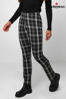 Joe Browns White Joke's Essential Check Trousers