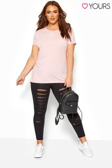 Yours Curve Slash Mesh Insert Legging