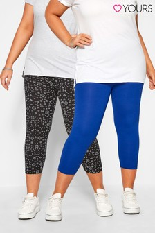 Yours Curve Crop Legging Pack Of 2
