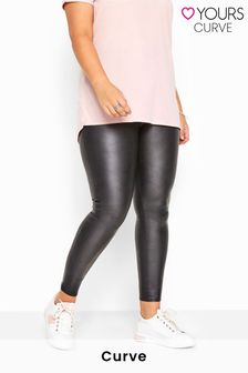 Yours Black Curve Wet Look Legging
