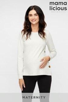 Mamalicious Grey Maternity Nursing Sweatshirt