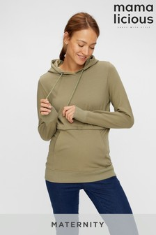 Mamalicious Neutral Maternity and Nursing Hoodie Co-ord