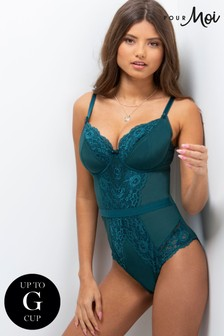 Pour Moi Green Opulence Underwired Body E+