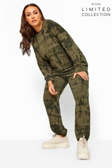 Yours Khaki Limited Collection Tie Dye Joggers