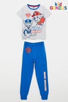 Kid Genius Blue Paw Patrol Short Sleeve Pj Set