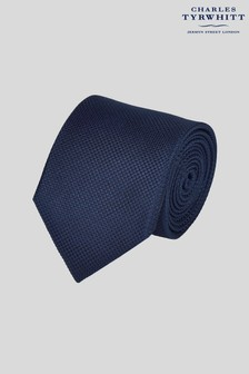 Charles Tyrwhitt Navy Stain Resistant Textured Plain Tie