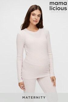 Mamalicious Maternity Stripe Lounge Top