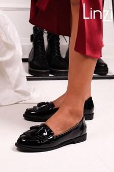 Linzi Black Rosemary Classic Slip On Loafer