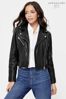 Urban Code Black Leather Biker Jacket