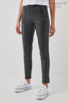 Urban Code Black Leather Trousers