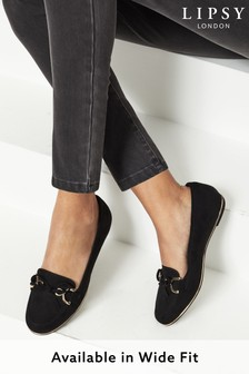 Lipsy Black Chain Loafer