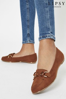 Lipsy Tan Chain Loafer