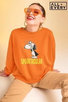 All + Every Orange Peanuts  Halloween Snoopy Women's Sweatshirt