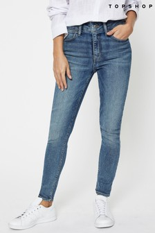 Topshop Blue Regular Leg 5 Pocket Skinny Jeans