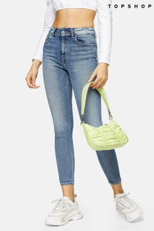 Topshop Blue Long Leg 5 Pocket Skinny Jeans