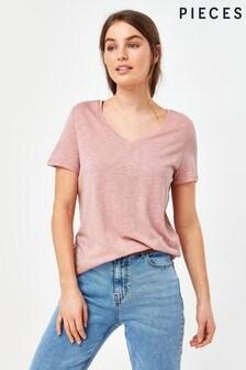 Pieces V Neck T-shirt