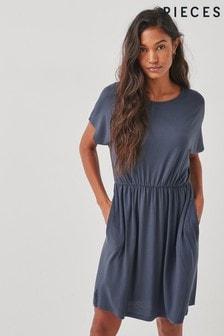Pieces Blue T-Shirt Jersey Dress