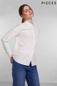 Pieces White Classic Oxford Shirt