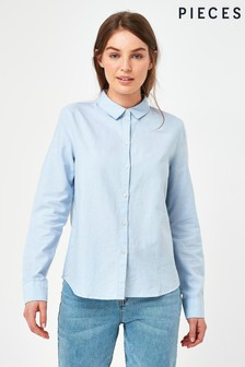 Pieces Blue Classic Oxford Shirt