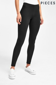 Pieces Black High Waisted Long Leggings