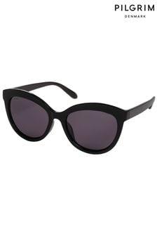 PILGRIM Black Tulia Sunglasses