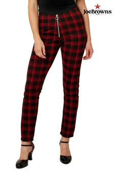 Joe Browns Red Check Ponte Trousers