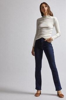 Dorothy Perkins Blue Short Ellis Bootcut Jeans