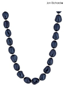 Jon Richard Silver Plated Blue Baroque Pearl Necklace