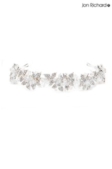 Jon Richard Silver Emery Leaf and Bead Statement Headband