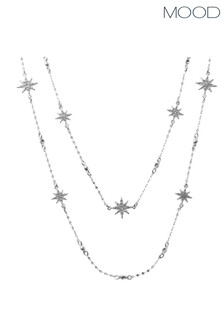Mood Silver Plated Celestial Star Necklace