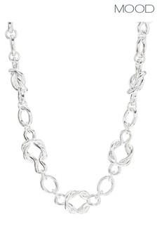 Mood Silver Plated Knot Chain Necklace