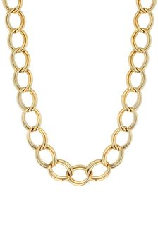 Mood Gold Plated Open Link Chain Necklace
