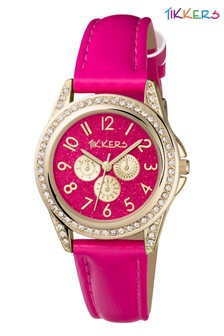 Tikkers Gold Kids Watch With Metal Casing