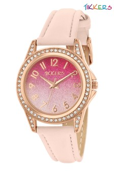Tikkers Pink Kids Watch With Metal Casing
