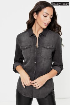 Noisy May Fitted Denim Shirt