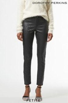 Dorothy Perkins Black Petites Animal Frankie Jeans