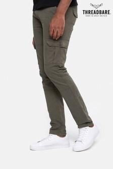 Threadbare Khaki Slim Fit Cargo Trousers