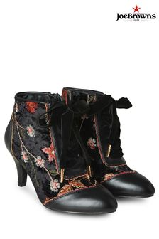 Joe Browns Black Wild Side Embroidered Bootees