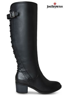 Joe Browns Black The Latest Lace Back Boots